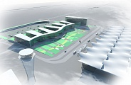 Design Proposal of Uzhny Airport System