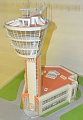 Control tower model in Sheremetievo Airport